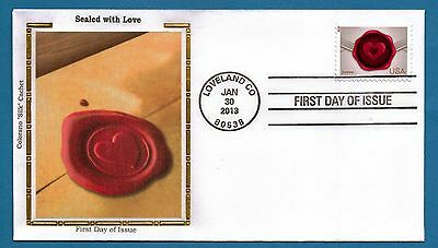 Colorano 4741 Sealed with Love - Loveland Colorado First Day Cover