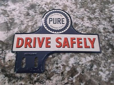 Pure Oil Embossed Metal License Plate Topper