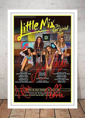 Little Mix Get Weird Tour 2015 Concert Flyer Autographed Signed Photo Print
