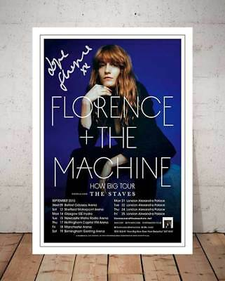 Florence And The Machine Concert Tour 2015 Flyer Signed Print 12X8