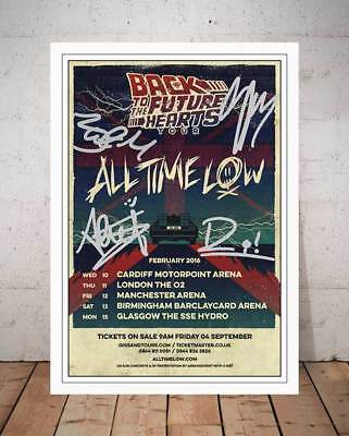 All Time Low Back To The Future Hearts 2016 Concert Flyer Autograph Photo Print