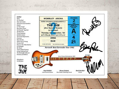 Paul Weller The Jam Beat Surrender Ticket Stub 1982 Autographed Signed Photo