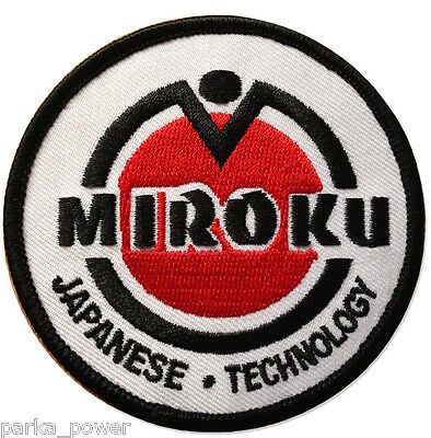 Miroku Iron on Embroidered Patch, Japanese Technology Firearms, Guns, Hunting