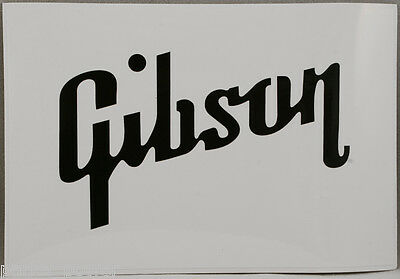 Gibson Guitar Text Sticker, Music instruments, bands, musicians, decal