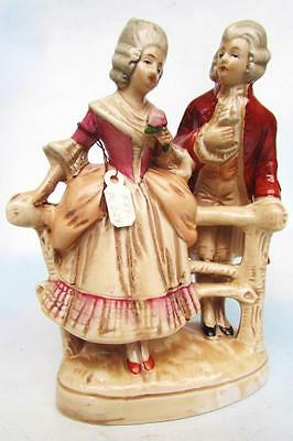 Antique Dresden Victorian Couple Hand-Painted & In Excellent Condition