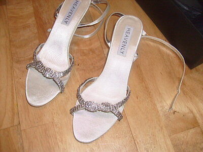 Ladies bridal bride wedding prom bridesmaid party shoes Satin Ivory Size 4 6 7 8