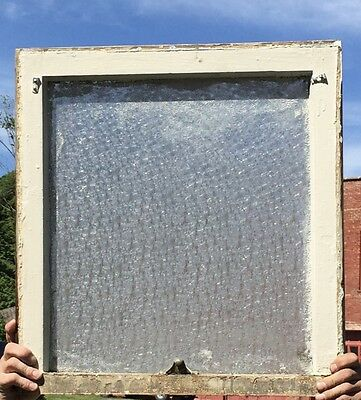 Antique Window Sash Florentine Privacy Glass Old Vintage Cottage 906-16
