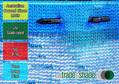 Abshade Fixing Pins - to attach/join Shadecloth/Shade Cloth - Pack 50