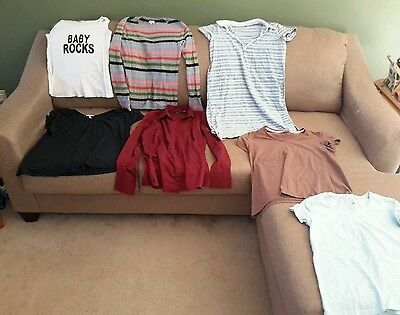Maternity Women's size medium clothes lot of 7 (rewty7)
