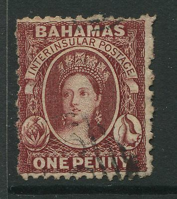 Bahamas 1862 1d lake used