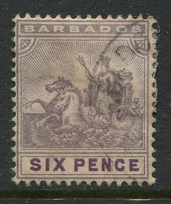 Barbados 1910 6d violet CDS used