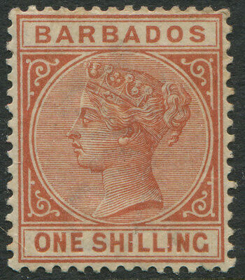 Barbados 1882 1/ orange brown mint o.g.