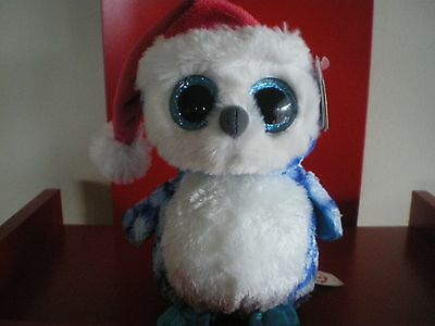 Ty Beanie Boos Icicle the owl 6 inch NWMT. IN STOCK NOW.
