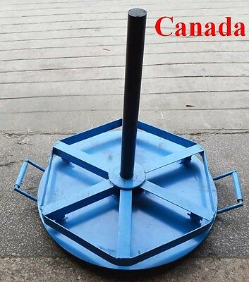Wire Cable Spool Reel Stand Holder Rolling Cart Layer Spindle