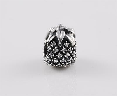 Authentic Genuine Pandora Sterling Silver Sparkling Pineapple Charm 791293CZ