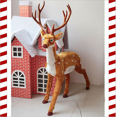 New 45 Inch Amazing Red Nose Reindeer Emulate Elk Rudolph For Christmas