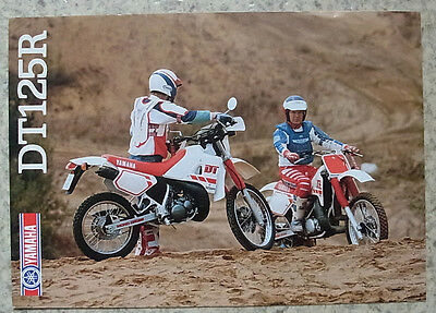 YAMAHA DT125R Motorcycle Sales Brochure c1988 #MC-DT125R-88E