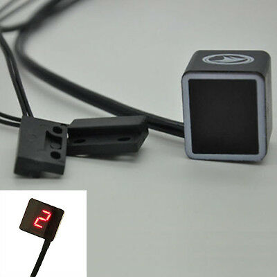 Universal LED Digital Gear Indicator Display Motorcycle Bikes Shift Lever Sensor