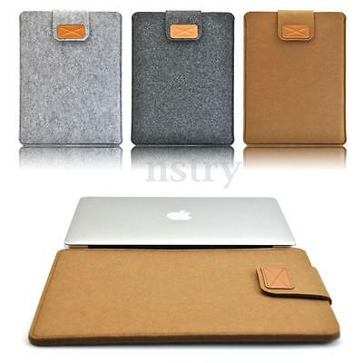 "Soft Felt Sleeve Laptop Bag Case Cover 11""/13""/15"" for MacBook Pro Notebook"