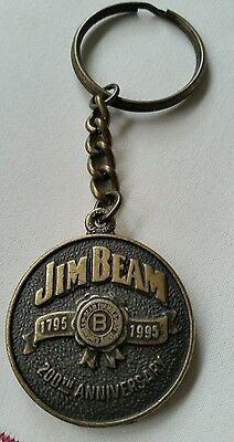 RARE COLLECTABLE JIM BEAM METAL EMBOSSED KEYRING New  no tag 200TH ANNIVERSARY