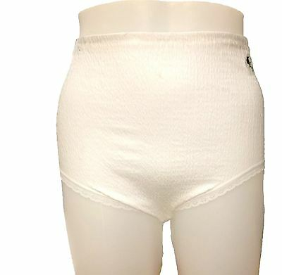 Lady Olga Womens Cotton Lycra Crinkle Waffle Full Brief With Tunnel Elastic