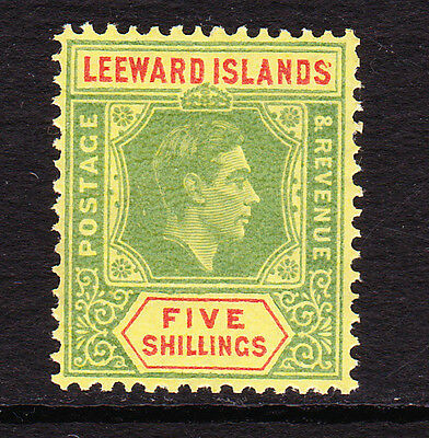 LEEWARDS ISLANDS 1938-51 5/- WITH SPLIT 'S' SG 112a MINT.