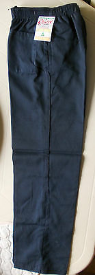 Unisex,childrens Elastic Waist School Pants in Navy size 14 --FREE POST""