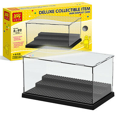 New product:Deluxe Collectible item minifigures Stackable display case fit Le go