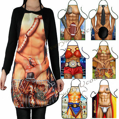 Men Women Novelty Funny BBQ Aprons Sexy Rude Cooking Kitchen Apron Barking Bar