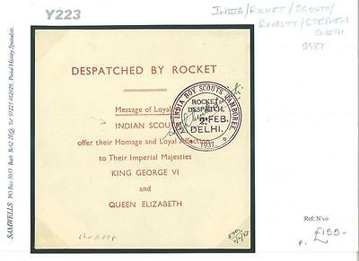 DBY223 1897 INDIA Rocket Royalty Scouts Stephen Smith/Unaddressed