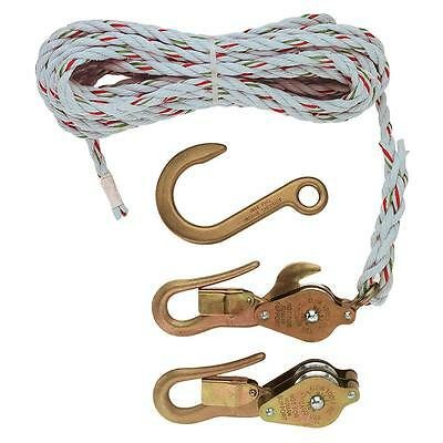 Klein Tools H1802-30S Block and Tackle with Guarded Snap Hooks with Swivel Hook