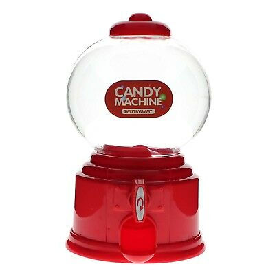 Sweet Candy Dispenser Machine Gumball Gum Ball Snacks Yummy Coin Storage Box Red