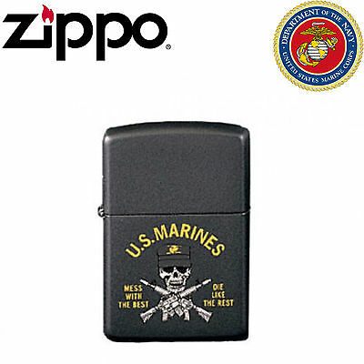 Genuine Zippo Lighter US Made US Marine Corps Limited Edition Mess With The Best