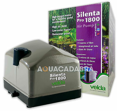 Velda Silenta Pro Pond Air Pump Aeration All Weather Airline Airstone Garden Koi