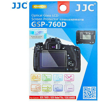 JJC GSP-760D Optical GLASS LCD Screen Protector Film for Canon Rebel T6s 760D