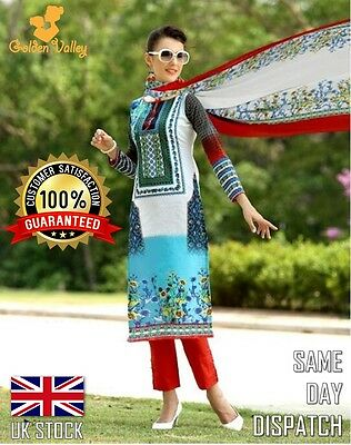 QUALITY DESIGNER SALWAR KAMEEZ 100% COTTON Dress Material UK STOCK MANY DESIGNS