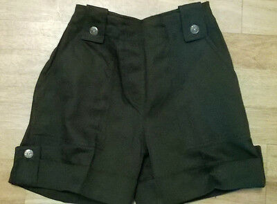 Girls cargo shorts,NEW Age 5 6 yr old, dark green khaki