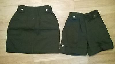 Girls shorts plus skirt set, NEW Age 5 6  yr old, dark khaki green