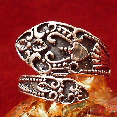 Ornament Ring 925 Silber Wikinger Viking floral ornamental LARP