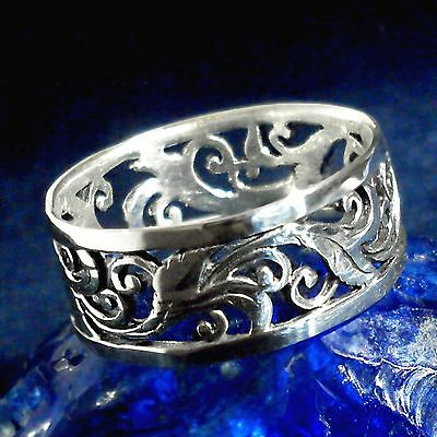 Jugendstil Ornament Ring 925 Silberfloral ornamental LARP Art Nouveau 2