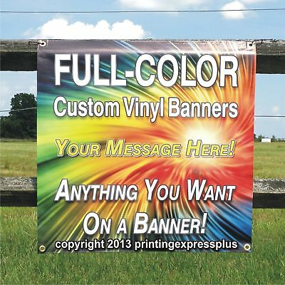 4' x 8' Custom Vinyl Banner 13oz Full Color - Free Design Included