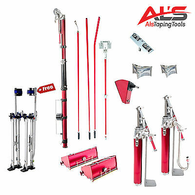 Level5 Pro Complete Full Set of Automatic Drywall Taping Tools w/ FREE Stilts