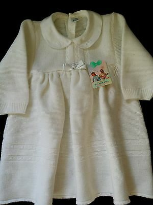 Vintage 70's baby dress Soft White Original, Genuine,  New with tags, 2 yrs