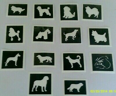 Dog themed stencils for etching on glass  (mixed)  craft / hobby / present