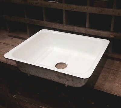 VERY NICE Antique 1948 Cast Iron White Porcelain AMERICAN STANDARD FloorSink-20