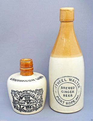 Cruiskeen Lawn * Mitchell Bros. Old Irish Whisky Belfast Miniature Stoneware Jug