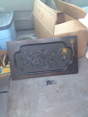 "1940's 20 3/8"" Carved Wood Panel Pediment"