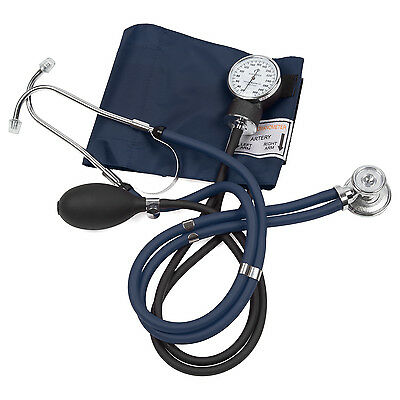 EMS Blood Pressure Cuff with Dual Stethoscope (Navy)