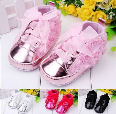 Baby Infant Newborn Baby Girl Crib Shoes Sneakers Boot Size 11cm 12cm 13 cm