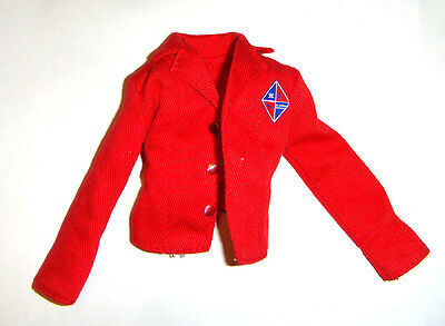 Barbie Fashion Red Jacket For Model Muse Barbie Doll fn115